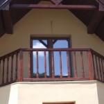 Balustrada din lemn brad exterioara