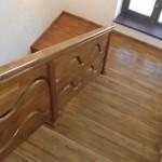 Placare scara interioara din beton cu lemn masiv de stejar