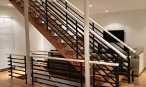 balustrada din lemn stejar