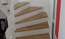 scari lemn pe beton