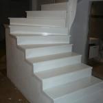 Placare scara beton cu stejar finisaj alb