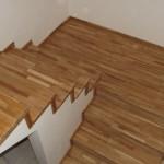 Placare scara beton cu lemn de stejar