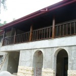 Balustrada din lemn de exterior