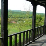 Balustrada exterioara lemn rustic
