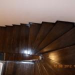 Scara interioara din lemn de stejar wenge
