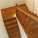 Scara interioara lemn fag pe vanguri