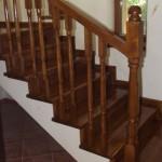 Scara lemn masiv de stejar si balustrada lemn